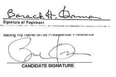 Obama Signatures
