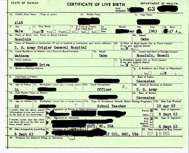 Online date of birth certificate