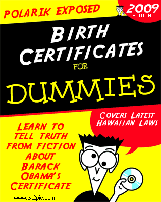 Birth Certificates for Dummies