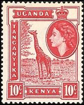 Kenya Postage, 1950's