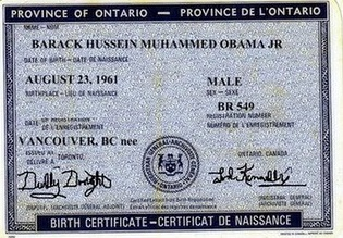 Fake Canadian Birth Certificate