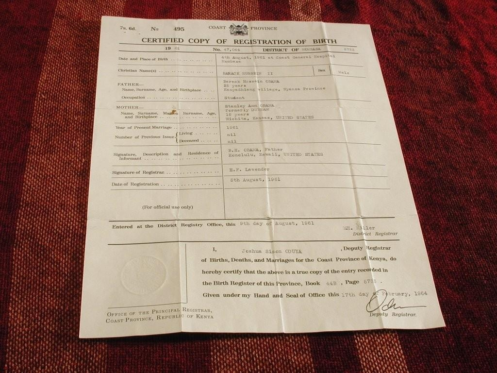 Kenyan birth certificate proven fake no doubt obama conspiracy click for larger version aiddatafo Images