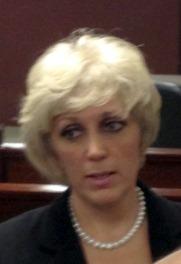 photo of Orly Taitz at the close of the Farrar hearing in Atlanta