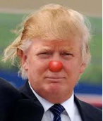 Photo of Donald Trump with clown nose