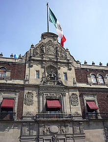 Mexican Presidential Palace detail (Wiki Commons)