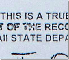 Detail from Obama's long-form birth certificate