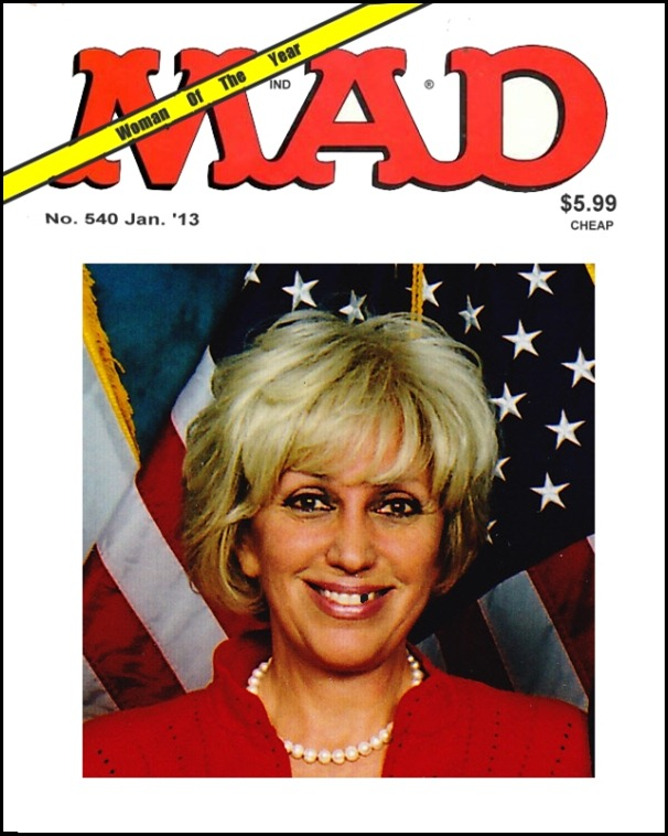 Orly Taitz as Women of the Year on Mad Magazine