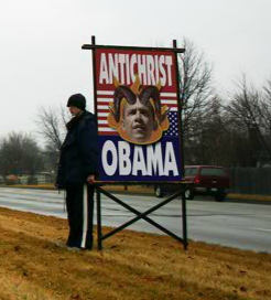 Obama antichrist sign