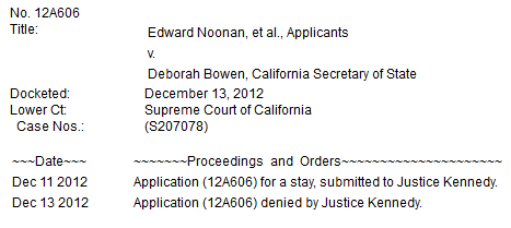 Application denied by Justice Kennedy