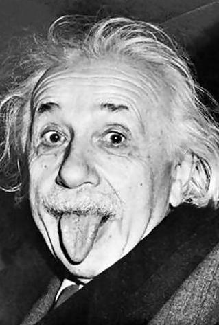 Einstein sticking out his tongue