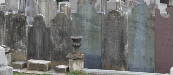 Photo of old tombstones