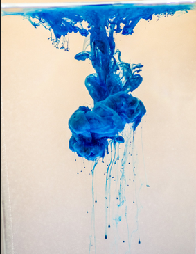 Photo: Ink drop in water