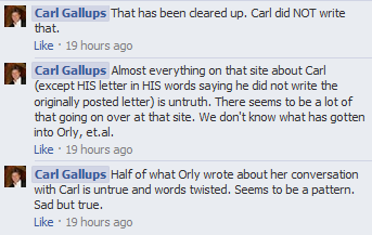 Half of what Orly wrote about her conversation with Carl is untrie and words twisted. Seems to be a pattern. Sad but true.